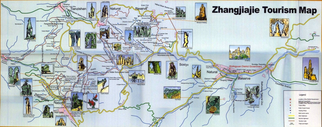 Zhangjiajie Area Map
