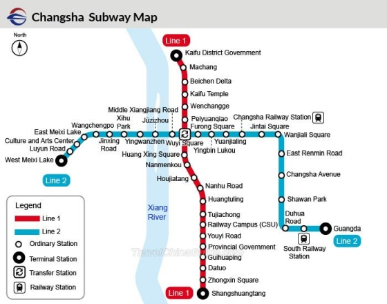 Changsha metro map